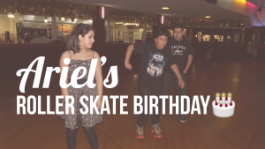 ariels 13th birthday party at moonlight roller rink in Glendale the argueta family