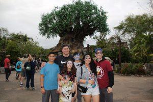 Argueta Family Disneyworld 2018 Spring Break Vacation Animal Kingdom Tree of Life