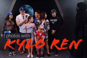 Photos with Kylo Ren at Hollywood Studios Launch Bay