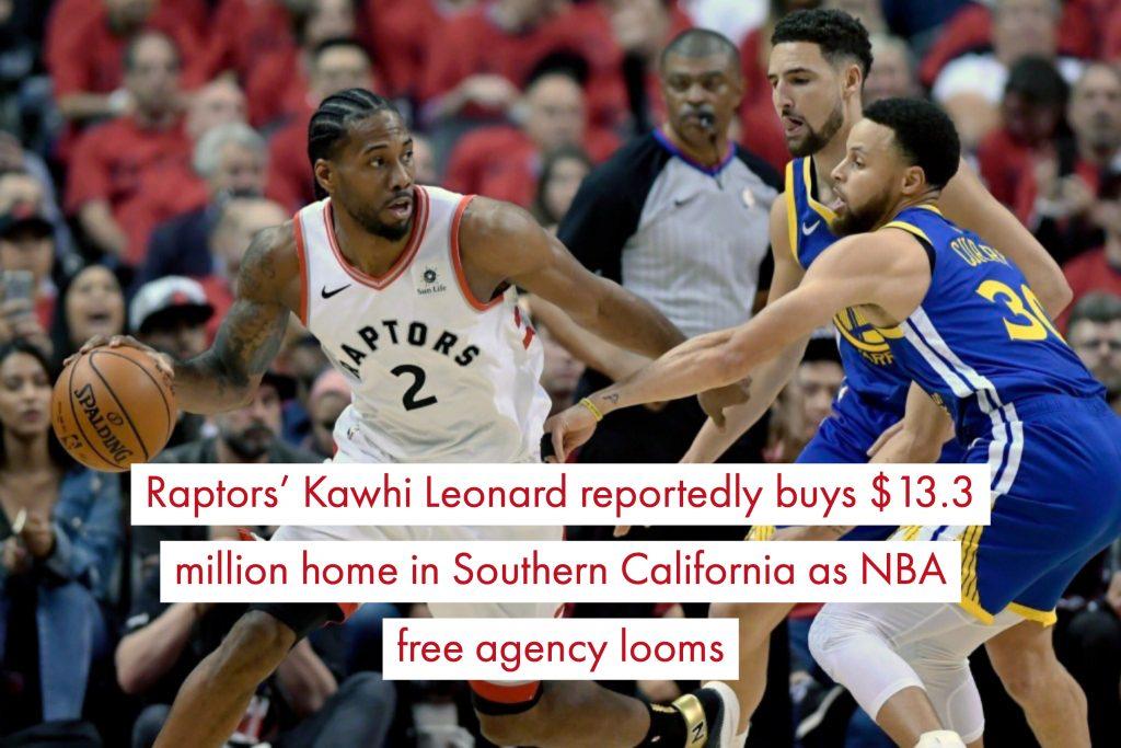 aptors' Kawhi Leonard reportedly buys $13.3 million home in Southern California as NBA free agency looms-2